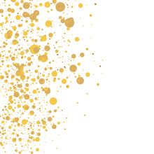 Gold Glitter Background Polka ...
