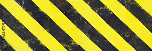 Canvastavla yellow hazard stripes