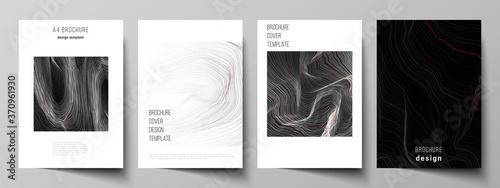 Obraz na plátně The vector illustration layout of A4 format modern cover mockups design templates for brochure, magazine, flyer, booklet, annual report