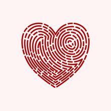 Fingerprint Heart Logo