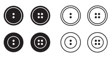 Sewing Button For Clothes Icon...