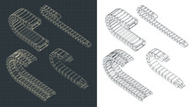 Cable Chains Isometric Drawings