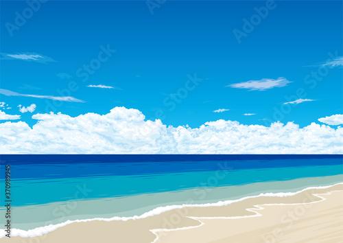 青い空と海 ビーチリゾート Fototapet