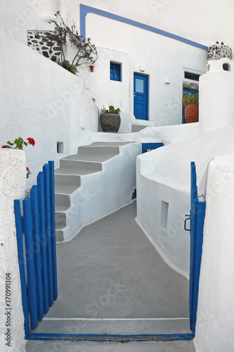 Fototapety, obrazy: The typical building at Firostefani, Santorini, Greece