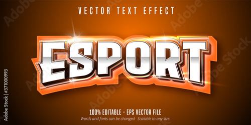 Fotografía Esport text, sport style editable text effect