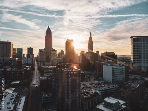 Fotografie, Obraz Cleveland Ohio Sunrise