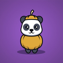 Cute Panda With Halloween Cost...