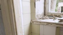 White Tiles On The Bathroom Area Of The Old Barracks Building In Saaremaa Estonia