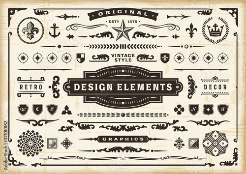 Foto Vintage Original Design Elements Set