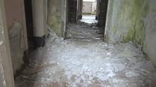 The Rubbles On The Floor Inside The Old Barracks Building In Saaremaa Estonia
