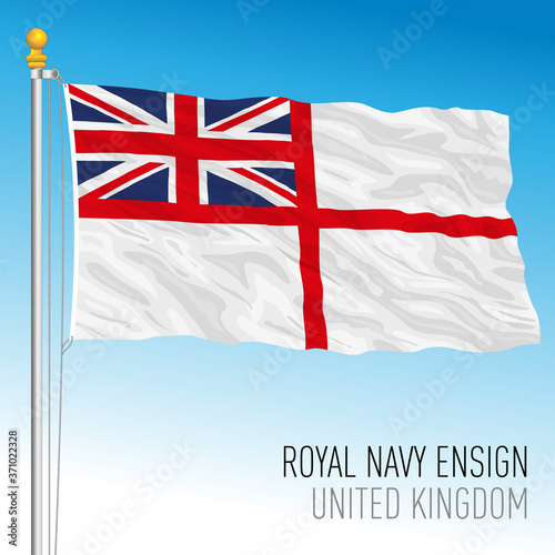 Royal Navy ensign, United Kingdom, vector illustration Fototapeta