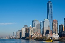 Lower Manhattan From Liberty Island