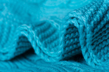 Azure Knitted Wool Warm Textil...