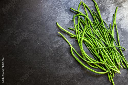 Fotografia, Obraz green beans raw legumes organic eating natural product portion serving size, top