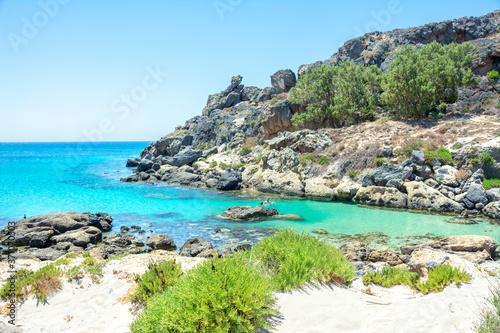 Fotografering Elafonisi Strand in Kreta