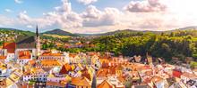 Panoramic View Of Cesky Krumlo...