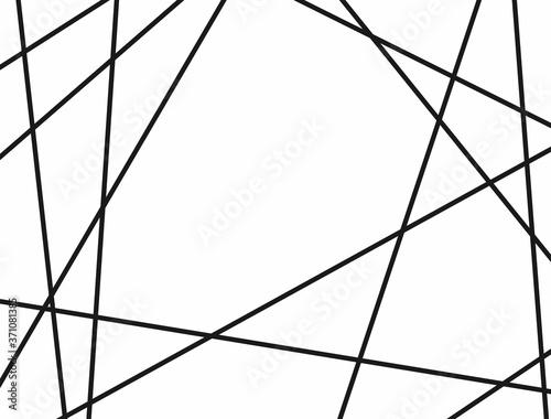 Horizontal template with random lines. Vector illustration. Canvas Print