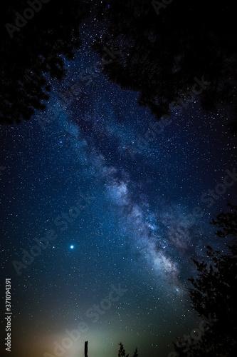 starry night sky Fototapet