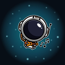 Cool Astronaut Vector Design