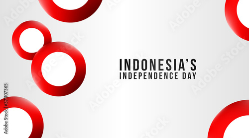 Indonesia's independence day background vector Canvas-taulu