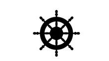 Ship Steering Wheel Icon Illus...