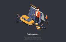 Taxi Service Concept. Big Tabl...