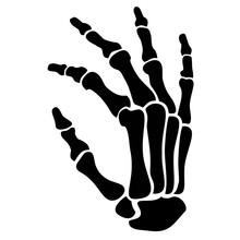 Vector,skeleton Hand Gesture, Stencil
