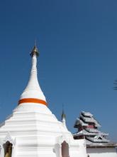 A Hilltop Temple Of Wat Pra That Doi Kong Mu, Thailand.