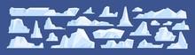 Set Of Floating Glacier, Icebe...