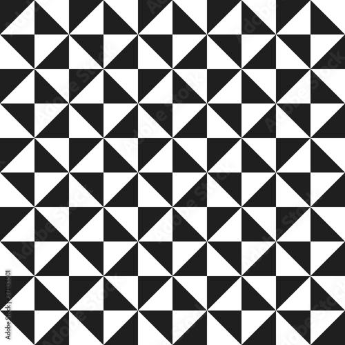 Fotografia, Obraz Geometric vector pattern with black and white triangles