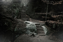 Stone Stairs In The Rocks In T...