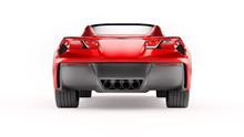 Back View Of A Red Sports SUV ...