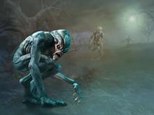 Swamp Monsters Scene 3D Illust...