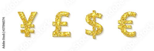 Set of golden coins Fototapete