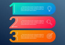 3 Steps Info Graphic With Busi...