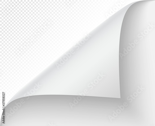 Fototapeta Curled page corner