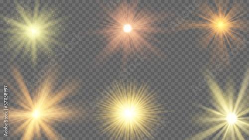Sun ray effect Fotobehang