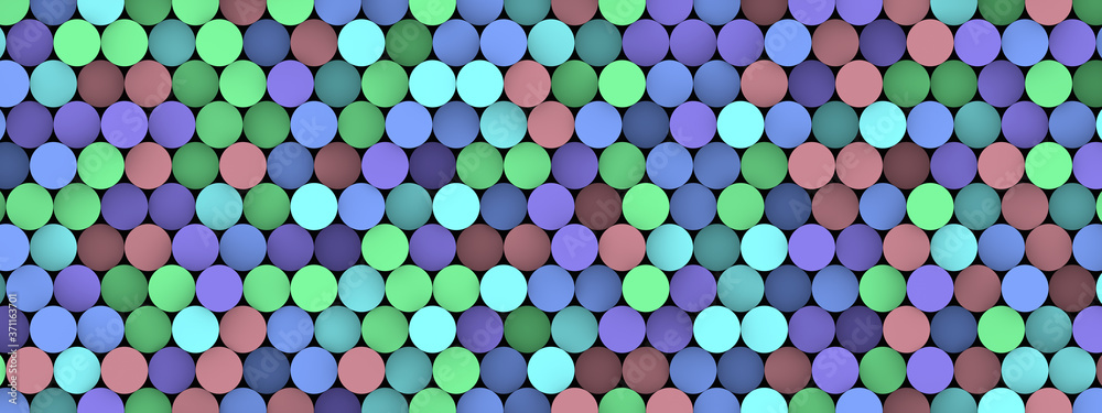Abstract 3d cylinders dotted backgrounds.