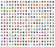 All national flags of the world with names icon