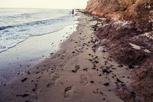 Sea Sand Mountain And Footprin...