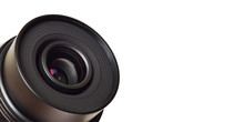 Camera Lens With Coy Space Or Text, Photography Banner
