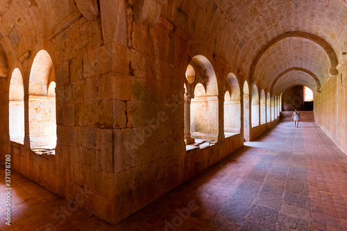 Le Thoronet Abbey, L'Abbaye du Thoronet, Var Department, Cistercian Architecture Wallpaper Mural