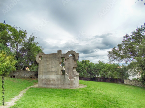 Cuadros en Lienzo Magical Sculptures Garden in Gernika Town Basque Country Spain