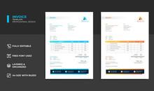 Modern Business Invoice Bill Template Premium Vector