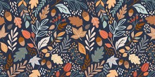 Autumn Seamless Pattern With D...