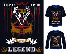 Deer Hunting T Shirt Design