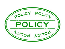 Grunge Green Policy Word Oval ...