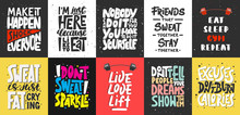 Set Of 10 Motivational And Ins...