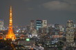 Beautiful urban cityscape of Tokyo at night