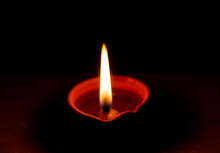 Diya Light With Black Night Background To Celebrate The Indian Festivals